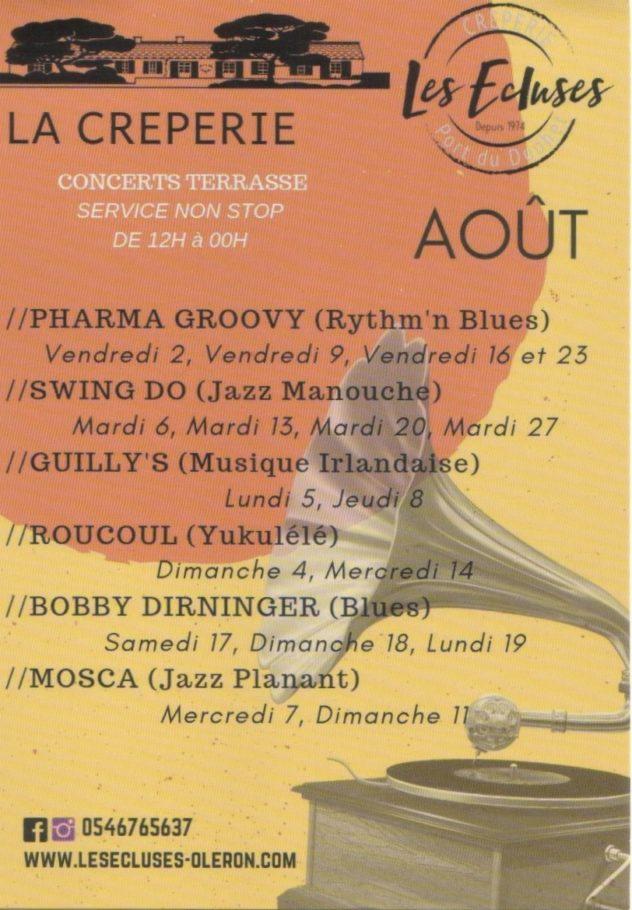 Concerts Août